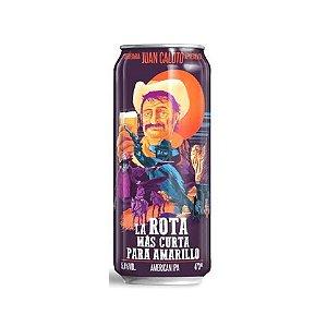Cerveja Juan Caloto La Rota Más Curta Para Amarillo American IPA Lata - 473ml