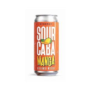 Cerveja Synergy Sourcaba Manga Berliner Weisse C/ Manga Lata - 473ml