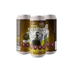 Cerveja Quatro Graus + Salvador Brewing Chocolate Enigma WheatWine C/ Cacau, Baunilha e Lactose Lata - 473ml