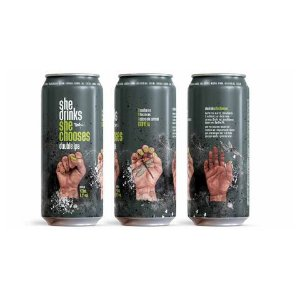 Cerveja Dádiva She Drinks She Chooses Double IPA Lata - 473ml