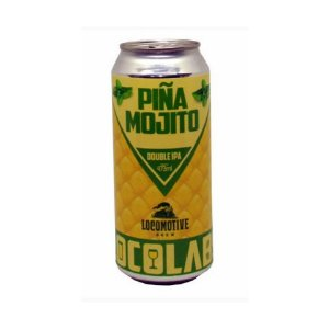 Cerveja Locomotive Brew Piña Mojito Double IPA C/ Abacaxi e Hortelã Lata - 473ml