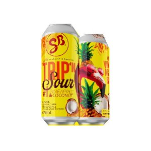 Cerveja SunnyBrew Trip'N Sour #1 Pineapple & Coconut Sour Ale C/ Abacaxi e Coco Lata - 473ml