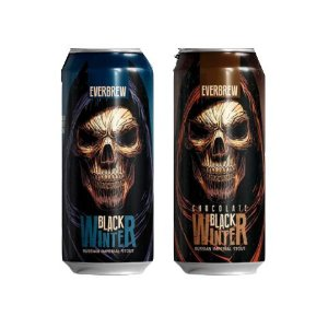 Kit Cerveja EverBrew Black Winter (Base + Chocolate) Russian Imperial Stout 2 Latas - 473ml