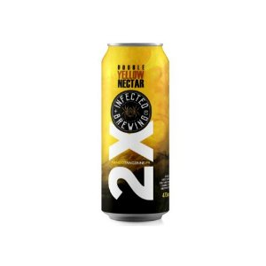 Cerveja Infected Brewing Double Yellow Nectar Double New England IPA C/ Manga e Tangerina Lata - 473ml