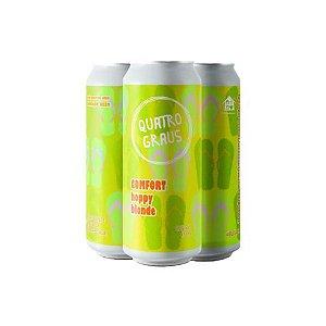 Cerveja Quatro Graus Comfort Hoppy Blonde Lata - 473ml
