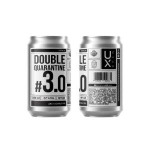 Cerveja UX Brew Double Quarantine #3.0 Juicy Double IPA Lata - 350ml