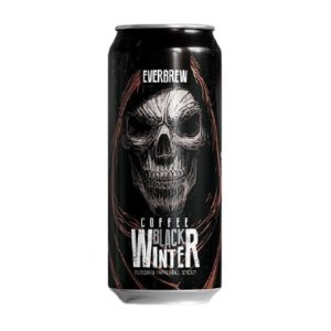 Cerveja EverBrew Black Winter Coffee Double Coffee Stout Lata - 473ml