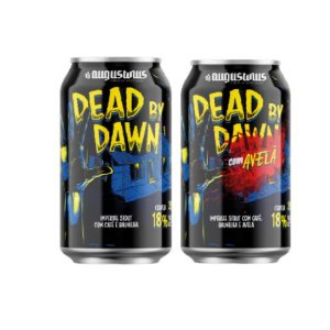 Kit Cerveja Augustinus Dead By Dawn 2020 (Base + Avelã) Russian Imperial Stout 2 Latas -350ml