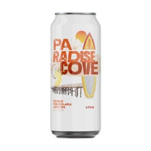 Cerveja HopMundi Paradise Cove Double Juicy IPA C/ Abacaxi e Coco Lata - 473ml