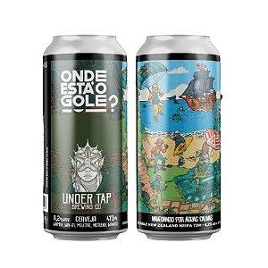 Cerveja Under Tap Onde Está o Gole? Navegando Por Águas Calmas Double New Zealand NEIPA TDH Lata - 473ml