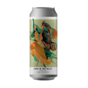 Cerveja Octopus Food In The Belly Double IPA Lata - 473ml