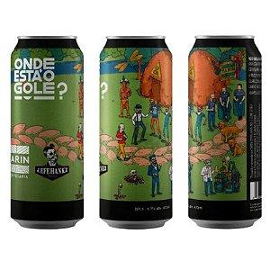 Cerveja Tarin + HankzBier Onde Está O Gole? BR-3 New England IPA Lata - 473ml