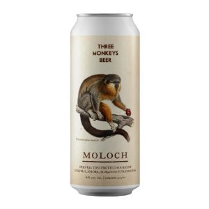 Cerveja Three Monkeys Moloch Fruited Sour Ale C/ Mirtilo, Amora, Morango e Framboesa Lata - 473ml