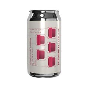 Cerveja Entrequadras Imperial Sour Framboesa Fruited Sour Ale Lata - 350ml