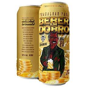 Cerveja Demonho Trabalhar Para Beber Em Dobro Double IPA Lata - 473ml