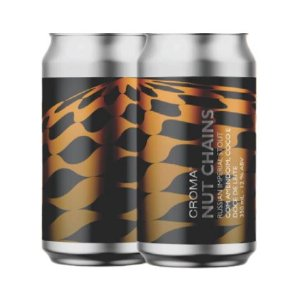 Cerveja Croma Nut Chains Russian Imperial Stout C/ Amendoim, Coco e Doce de Leite Lata - 350ml