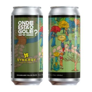 Cerveja Synergy Onde Está O Gole? MegaBerliner Yellow Fruits Strong Berliner Weisse C/ Maracujá, Pêssego e Manga Lata - 473ml