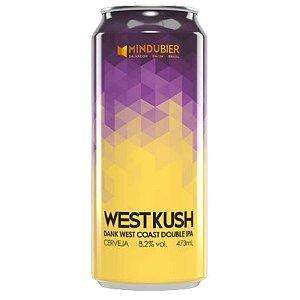 Cerveja MinduBier West Kush Dank West Coast Double IPA C/ Terpenos Lata - 473ml