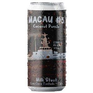 Cerveja Salvador Brewing Co Macau #5 Coconut Punch Milk Stout C/ Café Lata - 473ml