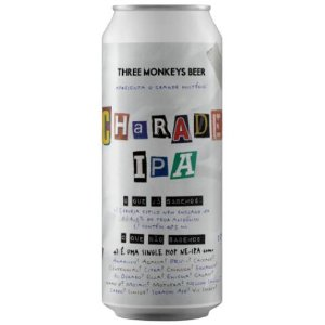 Cerveja Three Monkeys Charade IPA New England IPA Lata - 473ml
