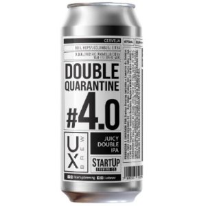 Cerveja UX Brew Double Quarantine #4,0 Juicy Double IPA Lata - 473ml