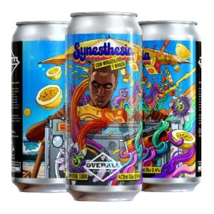 Cerveja Overall Synesthesia Manga e Maracujá Imperial Sour C/ Manga, Maracujá e Lactose Lata - 473ml