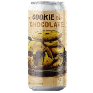 Cerveja Salvador Brewing Co Cookie de Chocolate Imperial Pastry Stout C/ Café, Cacau, Baunilha e Avelã Lata - 473ml