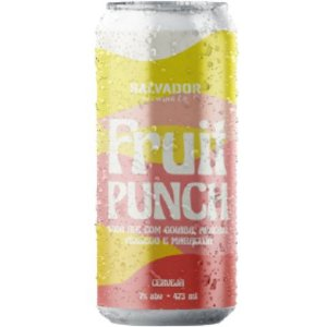 Cerveja Salvador Brewing Co Fruit Punch Goiaba, Abacaxi, Pêssego e Maracujá Sour Ale Lata - 473ml