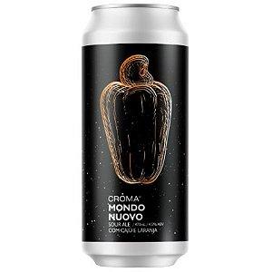 Cerveja Croma Mondo Novo Sour Ale C/ Cajú e Laranja Lata - 473ml