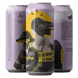 Cerveja Tesla + Abutres O Devaneio de Dumont Session Oak NEIPA Lata - 473ml