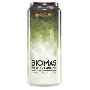 Cerveja MinduBier Biomas Imperial Sour Ale C/ Goiaba, Licuri, Laranja e Baunilha Lata - 473ml