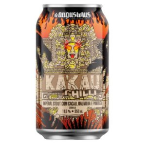 Cerveja Augustinus Ka'Kau Chilli Russian Imperial Stout C/ Cacau, Baunilha e Pimenta Lata - 350ml