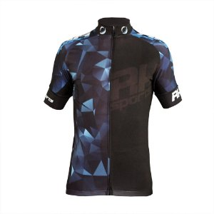 Camisa Ciclismo RH X3 Manga Curta Preto/Azul