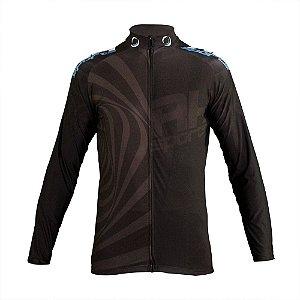 Camisa Ciclismo RH X2 Manga Longa Preto