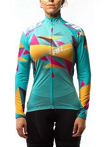 Camisa Ciclismo RH X2 Manga Longa Feminina Verde