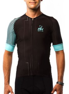 Camisa Ciclismo RH X4 Preto/Azul
