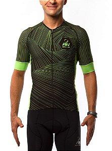 Camisa Ciclismo RH X4 Preto/Verde
