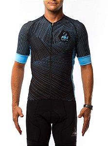 Camisa Ciclismo RH X4 Preto/Azul Claro