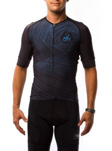 Camisa Ciclismo RH X4 Azul Escuro