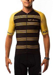 Camisa Ciclismo RH Classic Preto/Dourado