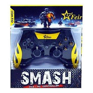 Controle PS3 com fio amarelo