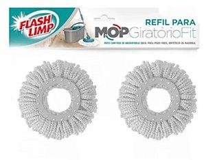 2 Refil Mop 360 Giratorio Balde Spin Fit / Odyssey Flashlimp
