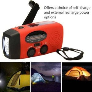 Emergency Hand Crank Generator AM/FM/WB Radio Flashlight Charger