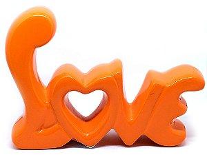 Palavra decorativa em cerâmica - Love