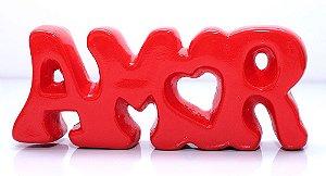Palavra Decorativa em Cerâmica  - Amor