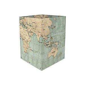 Lixeira Mapa Mundi Vintage