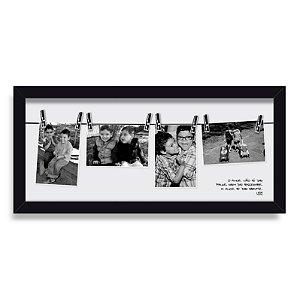 Porta Retrato de Parede Varal Amor Moldura