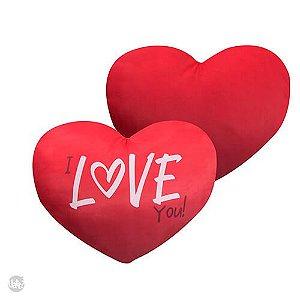 Almofada Coração - I Love You