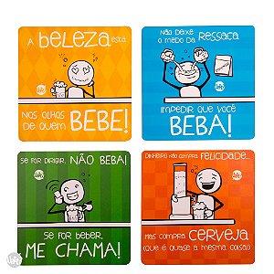 Porta Copos MDF - Frases de Boteco