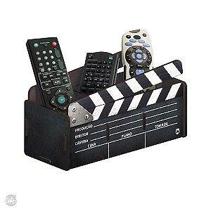Porta Controle de Madeira - Claquete Cinema